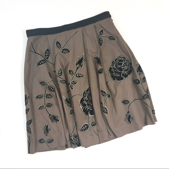 Anthropologie Dresses & Skirts - Anthropologie Odille Rose Embroidered Skirt